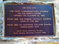 congregational plaque